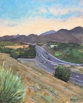 Santa Fe, looking north by Richard Willson