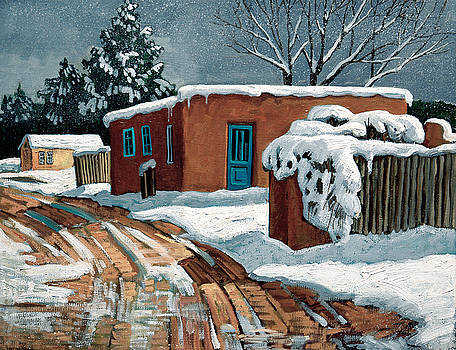Santa Fe Snow Day by Donna Clair