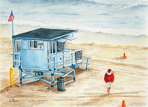 Santa is on the Beach by Lori Taylor
