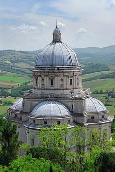 Reimar Gaertner - Santa Maria della Consolazione with pasterland in todi Italy
