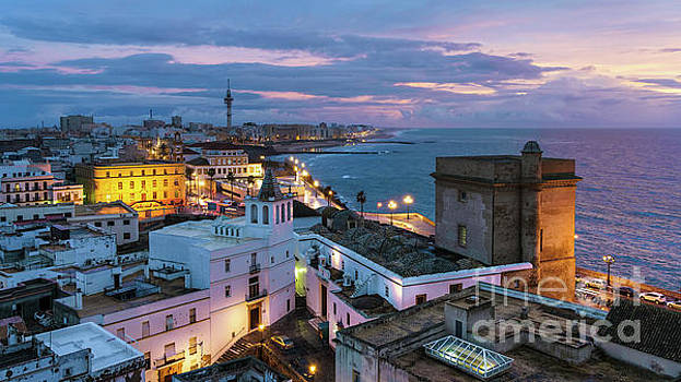 Santa Maria del Mar from East Tower Cadiz Spain by Pablo Avanzini