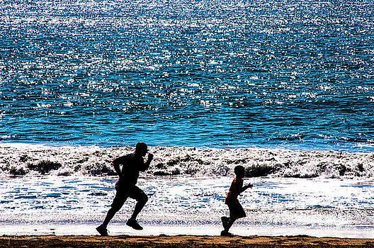 Julian Starks - Santa Monica Beach Father and Son
