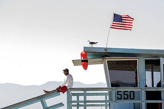 Santa Monica Lifeguard by Jean Haynes