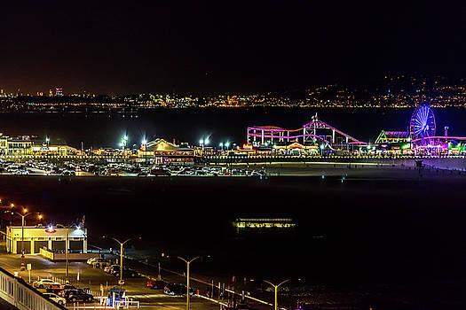 Santa Monica Pier Light Show - Series 1 by Gene Parks