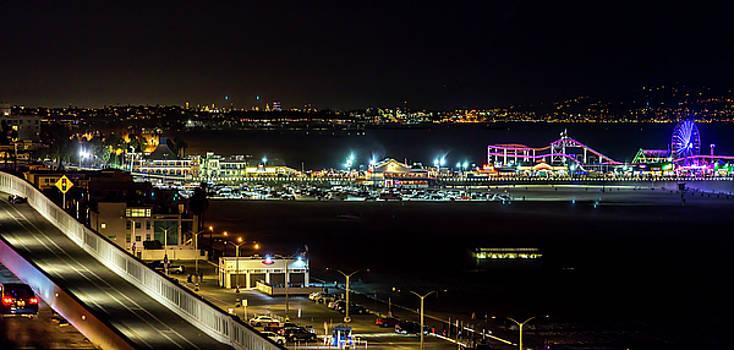 Santa Monica Pier Light Show - Series 2 by Gene Parks