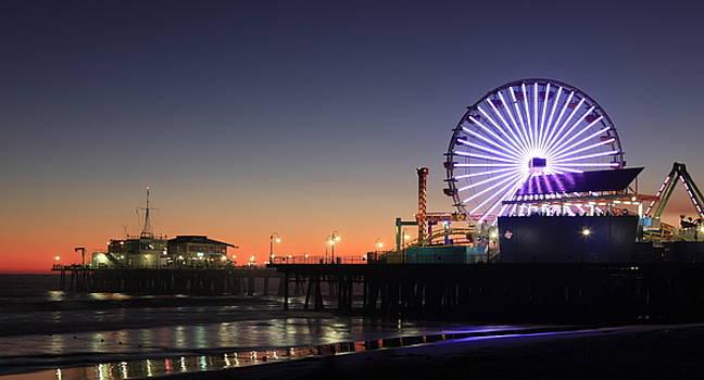 Santa Monica Pier at Sunset by Frank Freni