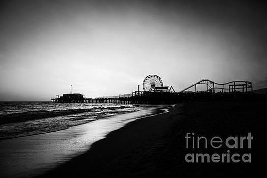 Paul Velgos - Santa Monica Pier Black and White Photography