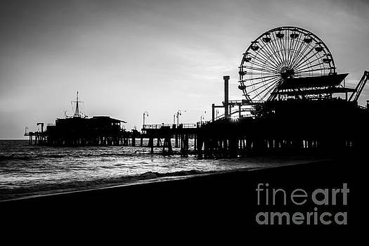 Santa Monica Pier Black and White Picture by Paul Velgos