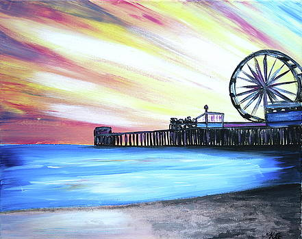 Santa Monica Pier by Kristine Mueller Griffith