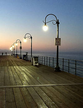 Art Block Collections - Santa Monica Pier Lights
