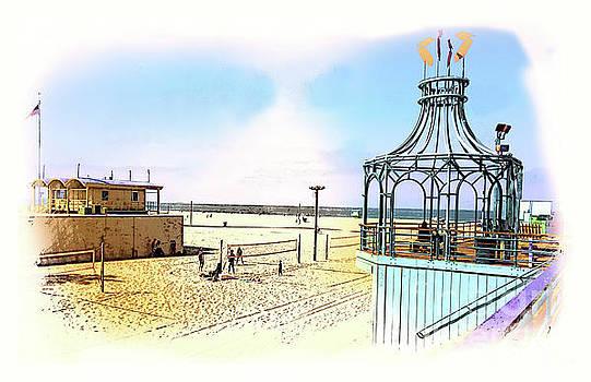 Santa Monica Pier Ver1  by Larry Mulvehill