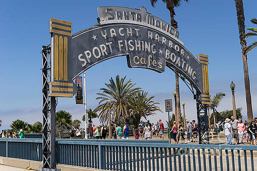 Wingsdomain Art and Photography - Santa Monica Yacht Harbor at Santa Monica Pier in Santa Monica California DSC3669