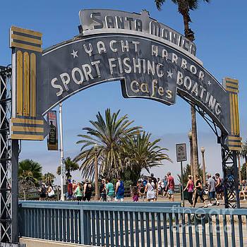 Wingsdomain Art and Photography - Santa Monica Yacht Harbor at Santa Monica Pier in Santa Monica California DSC3669sq