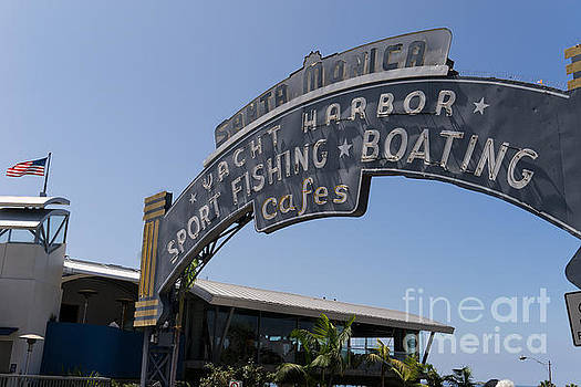 Wingsdomain Art and Photography - Santa Monica Yacht Harbor at Santa Monica Pier in Santa Monica California DSC3671