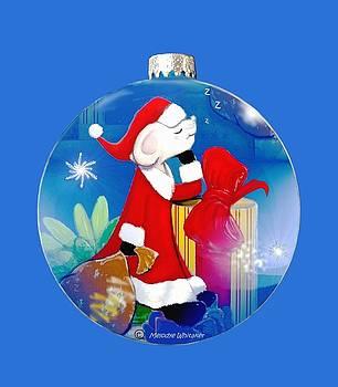 Santa Mouse child's shirt by Melodye Whitaker