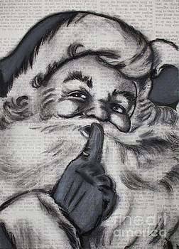 Santa on T'was the night before Christmas by Michael Cross