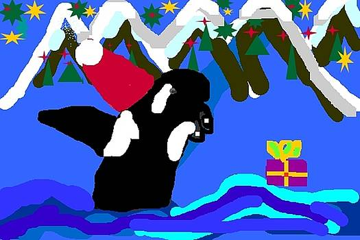 Santa Orca by Dawna Raven Sky