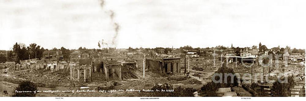 California Views Mr Pat Hathaway Archives - Panorama of ruins  of Santa Rosa after 1906 eathquake