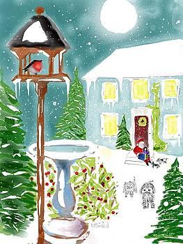 Santa Takes aBreak by Wade Binford