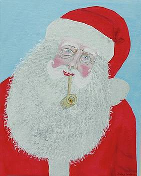 Santa With Corn Cob Pipe by Gordon Wendling