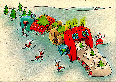 Santa's Card Factory by Michael Stancato