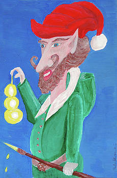 Santa's Ornament Painter Elf by Gordon Wendling