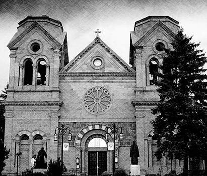 Sante Fe Cathedral by Becky Kurth