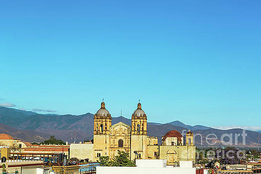 Santo Domingo Church and Hills by Jess Kraft