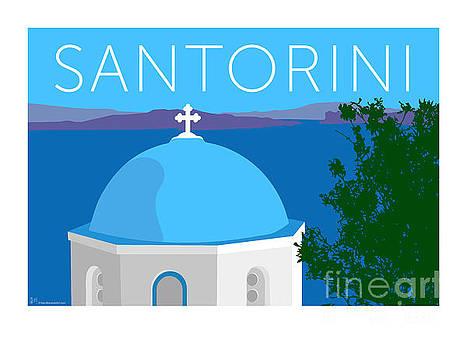 Sam Brennan - Santorini Dome - Blue
