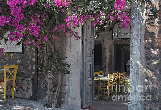 Santorini cafe by Jim Wright