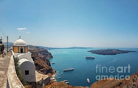 Sophie McAulay - Santorini church with views
