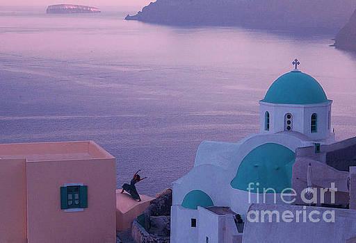Santorini dancer by Jim Wright