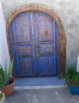 Santorini Door by Leslie Brashear