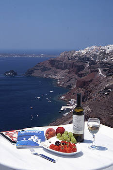 Santorini, Greece by Kamala Saraswathi