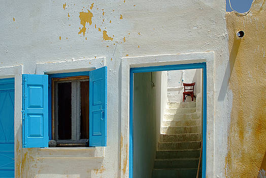 Santorini Greece Stairway by John Gilroy