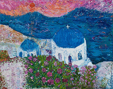 Santorini in May by Tara Leigh Rose