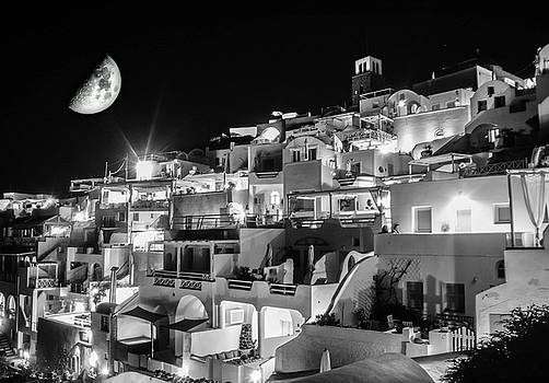 Santorini Moon Rise by Colin Collins
