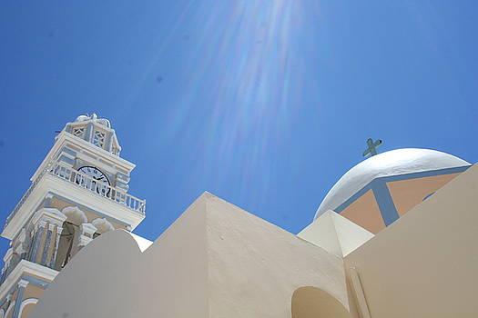 Santorini Sun by Malik Jaffer