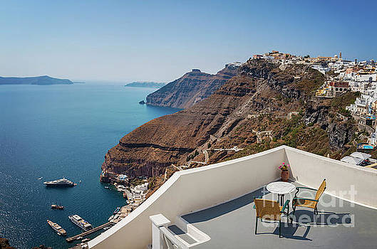 Sophie McAulay - Santorini sun terrace with views