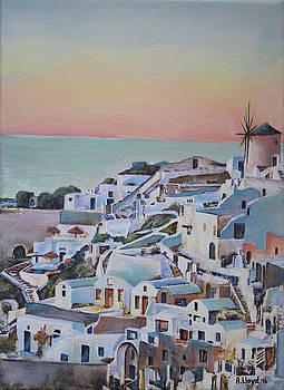Santorini Sunset 1 by Andy Lloyd