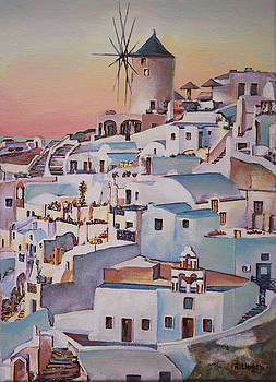 Santorini Sunset 2 by Andy Lloyd