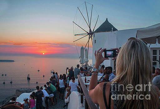 Santorini sunset 2 by Jim Wright