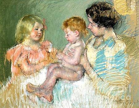 Cassatt - Sarah and Her Mother With Baby
