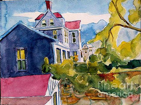 Sarah Paul's View in Watercolor by Debra Bretton Robinson