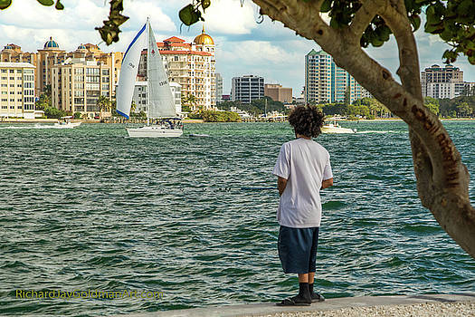 Sarasota Bay Fisherman by Richard Goldman