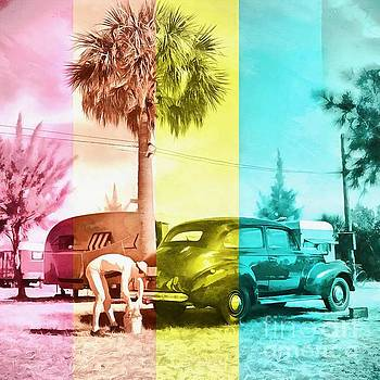 Sarasota Series Wash the Car by Edward Fielding