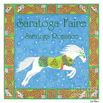 Saratoga Faire CD cover art with white horse by Lise Winne