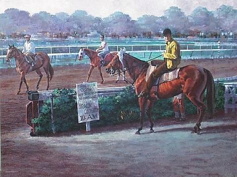 Saratoga Race Track by George Englert
