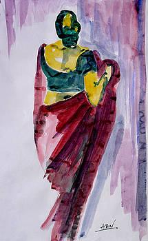 Saree Clad Lady by Abin Raj