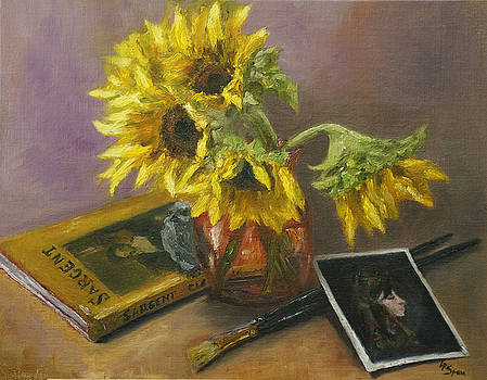 Lisa  Spencer - Sargent and Sunflowers